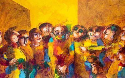 «Cuadros virales»: nuevas obras de Ejti Stih se exponen en Paseo Aranjuez
